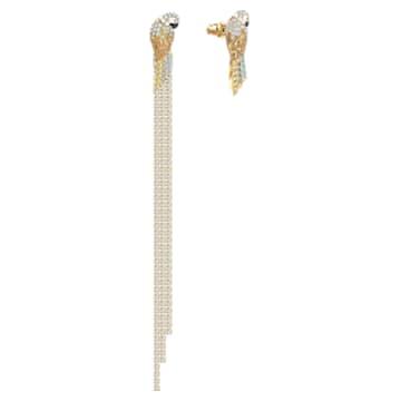 Boucles d'oreilles Tropical Parrot, multicolore clair, métal doré - Swarovski, 5512708