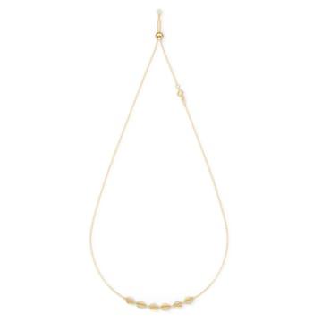 Ras-de-cou Shell, blanc, métal doré - Swarovski, 5512712