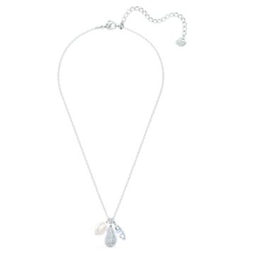 So Cool Cluster Halskette, weiss, rhodiniert - Swarovski, 5512732