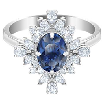 Bague avec motif Palace, bleu, Métal rhodié - Swarovski, 5513211