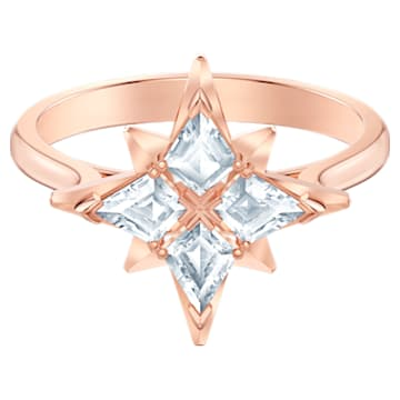 Swarovski Symbolic Star Motif Ring, White, Rose-gold tone plated - Swarovski, 5513213