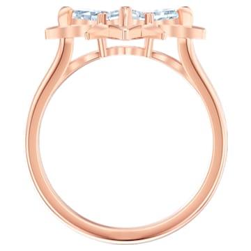 Anello con motivo Swarovski Symbolic Star, bianco, Placcato oro rosa - Swarovski, 5513217