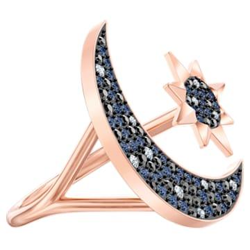 Swarovski Symbolic Moon Ring, Multi-colored, Rose-gold tone plated - Swarovski, 5513230
