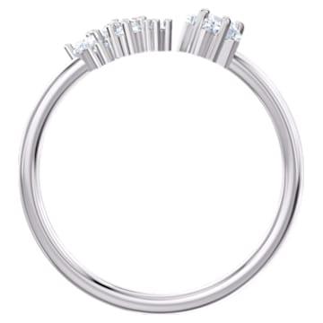 Moonsun Open Ring, White, Rhodium plated - Swarovski, 5513976