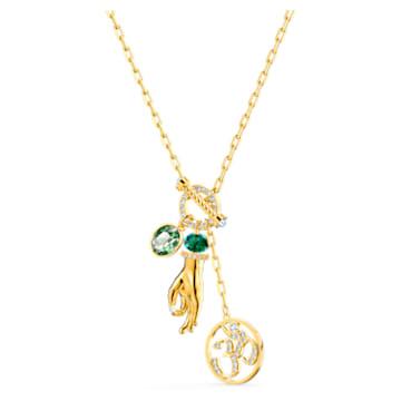 Swarovski Symbolic Hand Om medál, zöld, arany árnyalatú bevonattal - Swarovski, 5514407