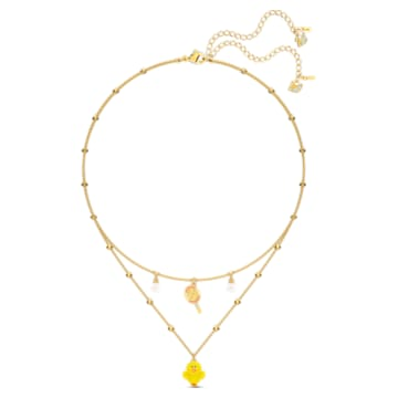 Line Friends Tennis 層次項鍊, 淺色漸變, 鍍金色色調 - Swarovski, 5514436