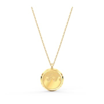 Shine Wave Pendant, Light multi-coloured, Gold-tone plated - Swarovski, 5514494