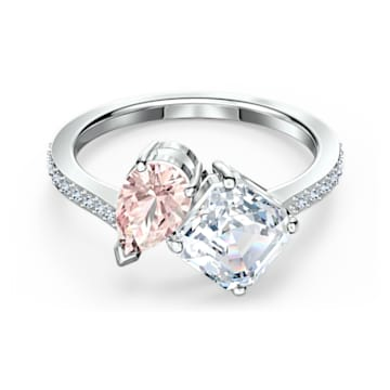 Attract Soul Ring, rosa, rhodiniert - Swarovski, 5514541