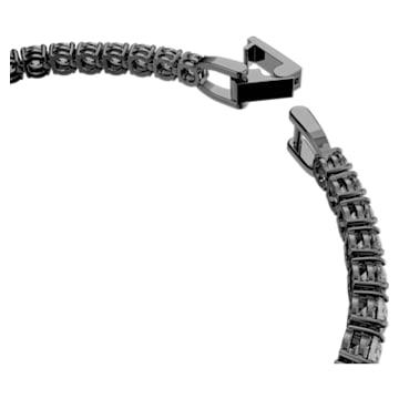 Tennis Deluxe Bracelet, Grey, Ruthenium plated - Swarovski, 5514655