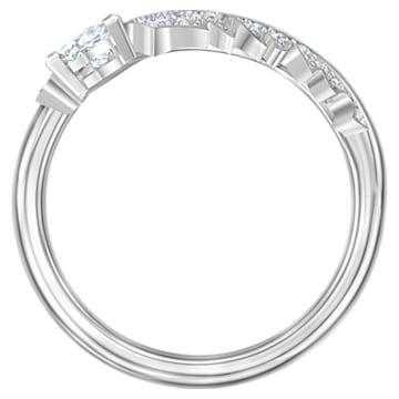 Pierścionek Nice, biały, powlekany rodem - Swarovski, 5515017