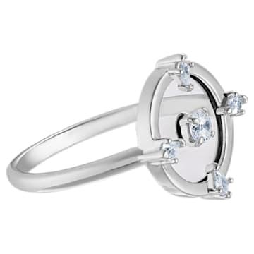 North Motif Ring, White, Rhodium plated - Swarovski, 5515033