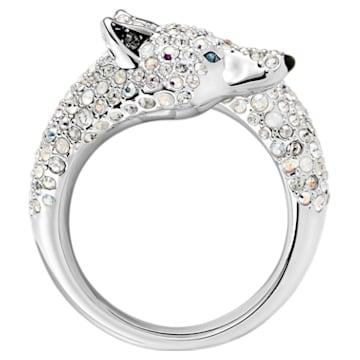 Polar Bestiary Wolf Cocktail Ring, Multi-colored, Rhodium plated - Swarovski, 5515091