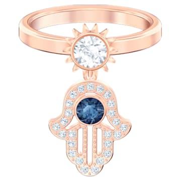 Swarovski Symbolic Motif Ring, Blue, Rose-gold tone plated - Swarovski, 5515443