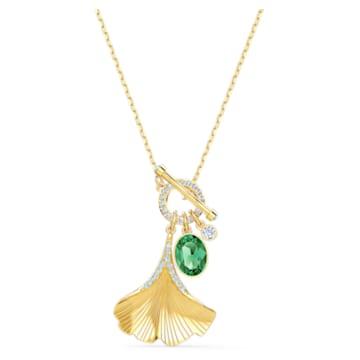 Collier Stunning Gingko, vert, métal doré - Swarovski, 5515465
