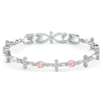 Perfection Set, Pink, Rhodium plated - Swarovski, 5515515