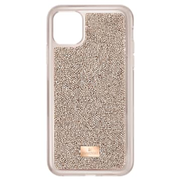 Custodia per smartphone con bordi protettivi Glam Rock, iPhone® 11 Pro, tono oro rosa - Swarovski, 5515624