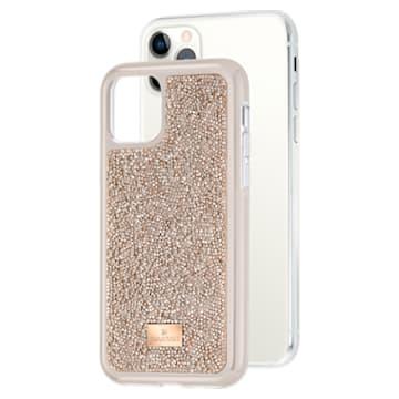 Glam Rock okostelefon tok beépített ütéselnyelővel, iPhone® 11 Pro, rozéarany árnyalat - Swarovski, 5515624