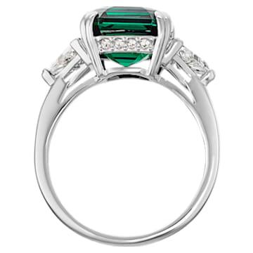 Pierścionek koktajlowy Attract, zielony, powlekany rodem - Swarovski, 5515708