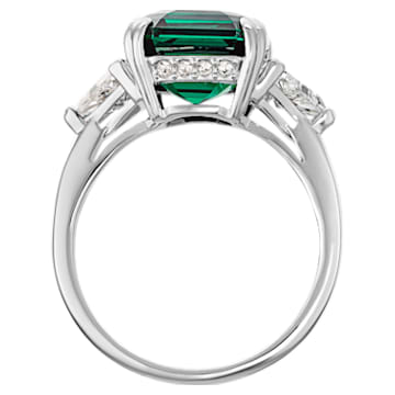 Attract Cocktail 戒指, 綠色, 鍍銠 - Swarovski, 5515709