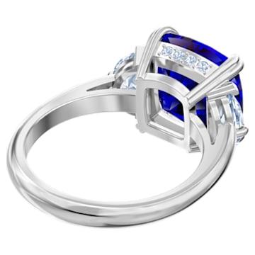 Pierścionek koktajlowy Attract, niebieski, powlekany rodem - Swarovski, 5515710