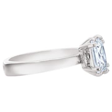 Pierścionek Attract, biały, powlekany rodem - Swarovski, 5515728