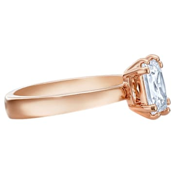 Bague avec motif Attract, blanc, Métal doré rose - Swarovski, 5515779