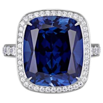 Ángel Halo Ring, Swarovski Created Sapphire, 18K White Gold, Size 58 - Swarovski, 5516300