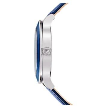 Reloj Octea Lux Moon, Correa de piel, azul oscuro, acero inoxidable - Swarovski, 5516305