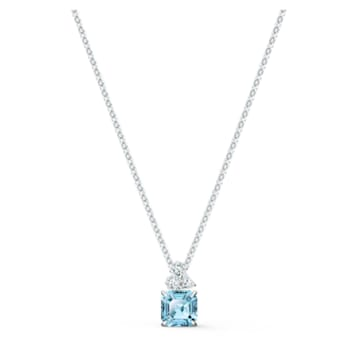 Sparkling 链坠, 海蓝色, 镀铑 - Swarovski, 5516483