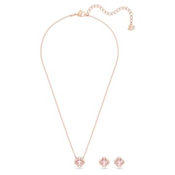 Swarovski Sparkling Dance Clover Set, rosa, Rosé vergoldet - Swarovski, 5516488