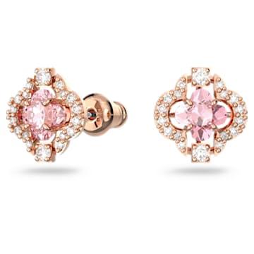 Swarovski Sparkling Dance set, Clover, Pink, Rose-gold tone plated - Swarovski, 5516488