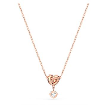Colgante Lifelong Heart, blanco, baño tono oro rosa - Swarovski, 5516542