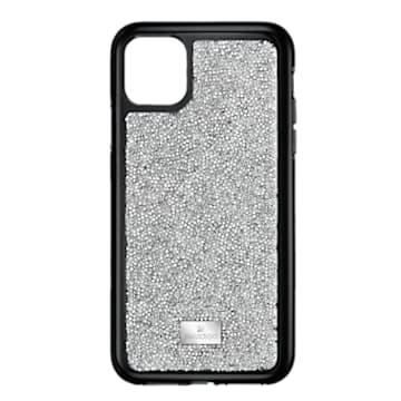 Custodia per smartphone con bordi protettivi Glam Rock, iPhone® 11 Pro, tono argentato - Swarovski, 5516873