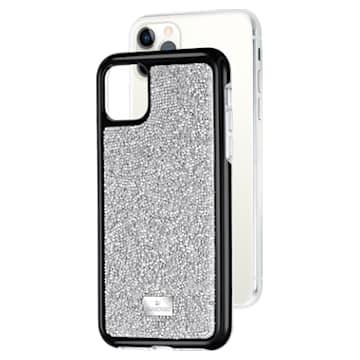 Glam Rock okostelefon tok beépített ütéselnyelővel, iPhone® 11 Pro, ezüst árnyalat - Swarovski, 5516873