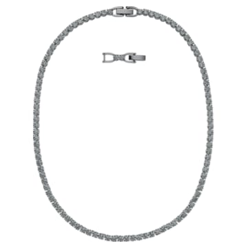 Tennis Deluxe 네크리스, 블랙, 루테늄 플래팅 - Swarovski, 5517113