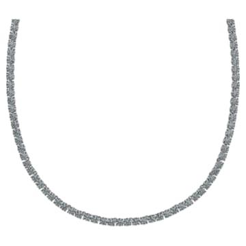Tennis Deluxe Halskette, schwarz, Rutheniert - Swarovski, 5517113