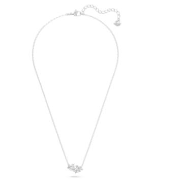 Attract Soul 項鏈, 心形, 白色, 鍍白金色 - Swarovski, 5517117