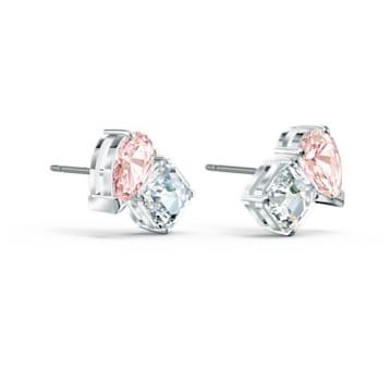 Boucles d'oreilles Attract Soul, rose, métal rhodié - Swarovski, 5517118