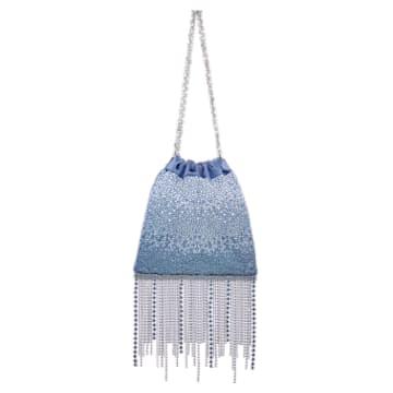 Sac Fringe Benefit Hotfix, Bleu - Swarovski, 5517614