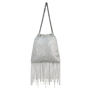 Fringe Benefit Hotfix Tasche, Silberfarben - Swarovski, 5517617