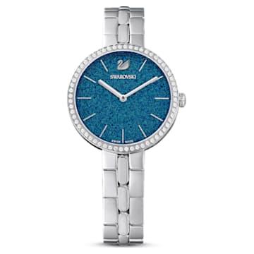 Cosmopolitan karóra, fém karkötő, kék, nemesacél - Swarovski, 5517790