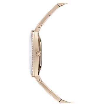 Hodinky Cosmopolitan, Kovový náramek, Zlatý odstín, PVD v šampaňském odstínu - Swarovski, 5517794