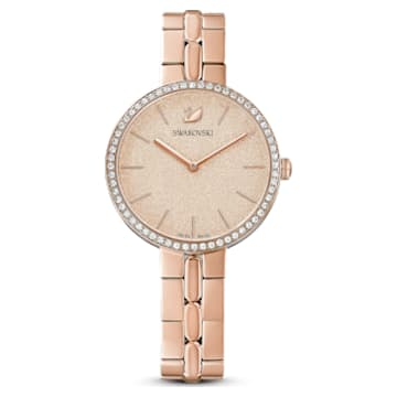 Cosmopolitan Uhr, Metallarmband, Rosa, Roségoldfarbenes PVD-Finish - Swarovski, 5517800