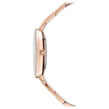 Cosmopolitan 워치, 메탈 브레이슬릿, 핑크, 로즈골드 톤 PVD - Swarovski, 5517800