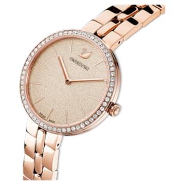 Montre Cosmopolitan, bracelet en métal, rose, PVD doré rose - Swarovski, 5517800