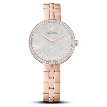Montre Cosmopolitan, Bracelet en métal, Ton or rose, PVD doré rose - Swarovski, 5517803