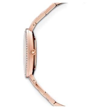 Orologio Cosmopolitan, bracciale di metallo, bianco, PVD oro rosa - Swarovski, 5517803