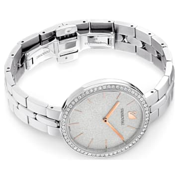 Cosmopolitan Uhr, Metallarmband, Silberfarben, Edelstahl - Swarovski, 5517807