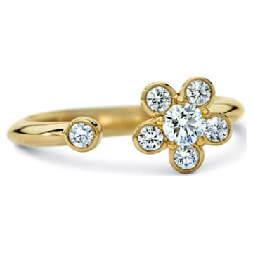Bloom Ring, Swarovski Created Diamonds, 18K Yellow Gold, Size 55 - Swarovski, 5517825
