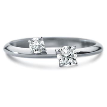 Intimate Delicate Ring, Swarovski Created Diamonds, 18K White Gold, Size 55 - Swarovski, 5517829